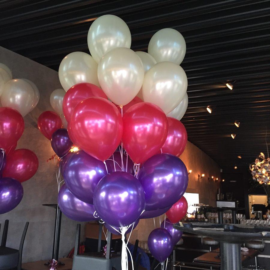Helium Ballonnen Creme Fuchsia Paars