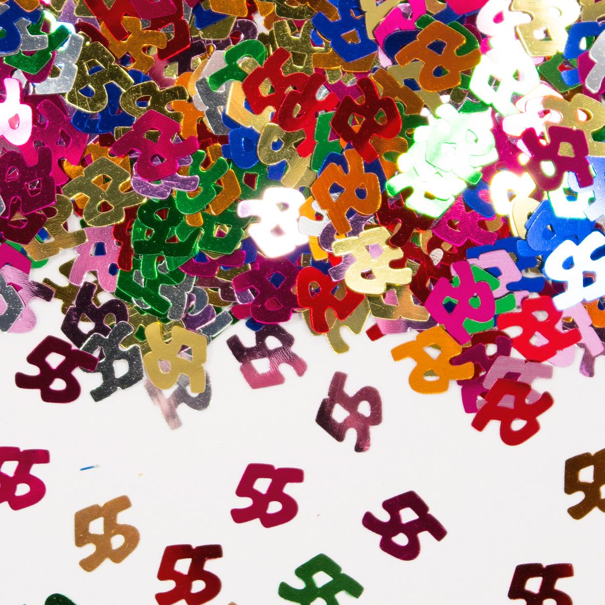 55 Jaar Tafeldecoratie Multicolor Feesthoek