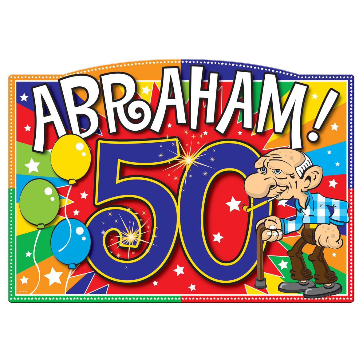 afbeelding abraham 50 jaar Abraham 50 Jaar Deurbord Explosion   Feesthoek afbeelding abraham 50 jaar