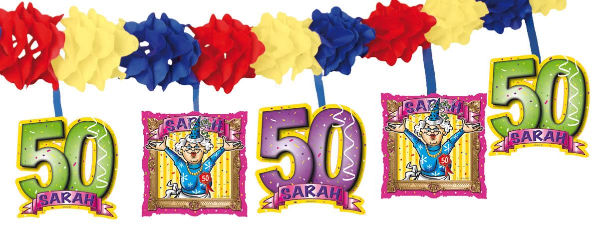 sarah 50 jaar slingers Feesthoek sarah 50 jaar slingers
