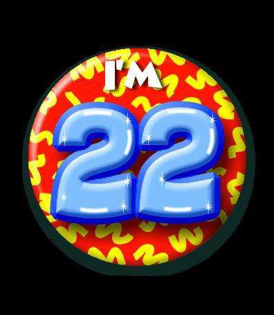 22 jaar 22 Jaar Button   Feesthoek 22 jaar