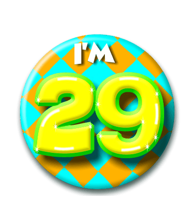 29 jaar 29 Jaar Button   Feesthoek 29 jaar