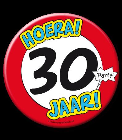 30 jaar 30 Jaar Button Groot   Feesthoek 30 jaar