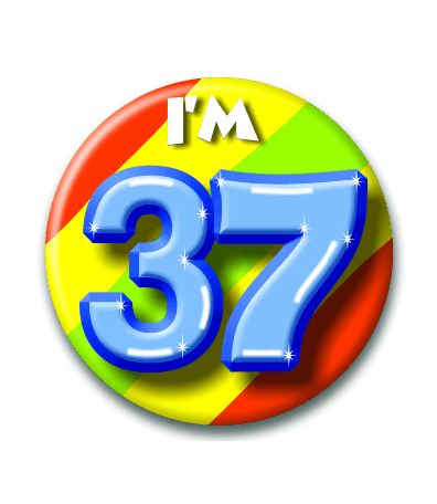 37 jaar 37 Jaar Button   Feesthoek 37 jaar