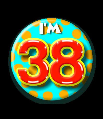 38 jaar 38 Jaar Button   Feesthoek 38 jaar