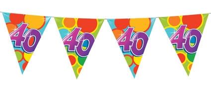 vlaggetjes 40 jaar Feesthoek vlaggetjes 40 jaar
