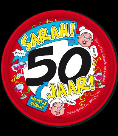 afbeelding 50 jaar sarah Sarah 50 Jaar Dienblad   Feesthoek afbeelding 50 jaar sarah