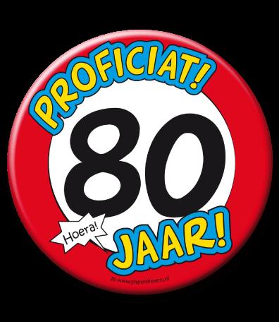 80 jaar 80 Jaar Button Groot   Feesthoek 80 jaar