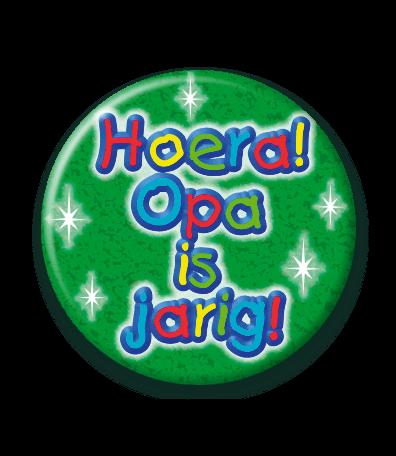 Bekend Opa is Jarig Button - Feesthoek ZP53