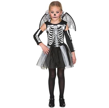 d3e05818996474 Kinderkleding Skelet Jurk Maat 122-128 (7-9 Jaar) Meisje - Feesthoek