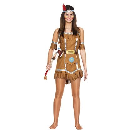 Carnavalskleding Dames Indiaan.Kleding Dames Indiaan Suede Luxe Maat S M Feesthoek