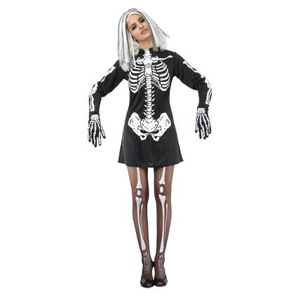 Halloween Kleding Dames.Kleding Dames Skelet Jurk Maat S M