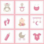 Baby Shower Roze