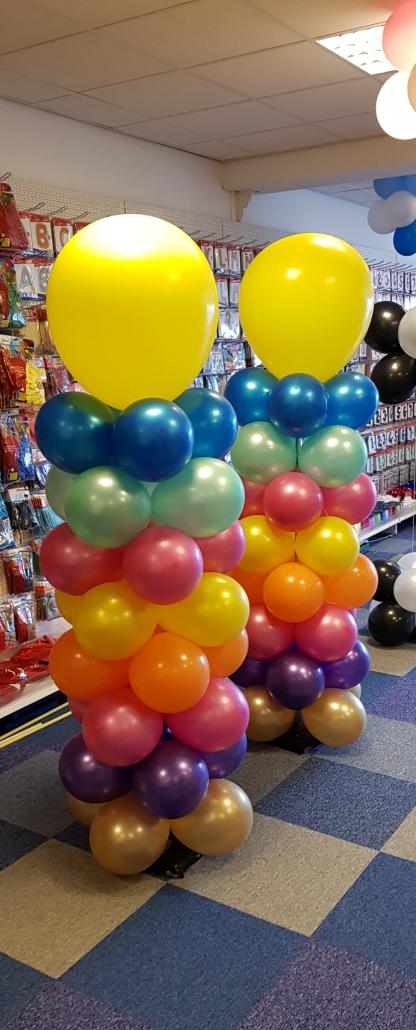 Ballonnenpilaar Gekleurd met Topballon